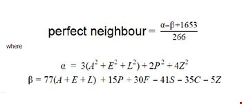 HomeServe Perfect Neighbour equation