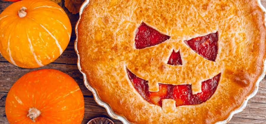 Chilling Halloween Cherry Pie