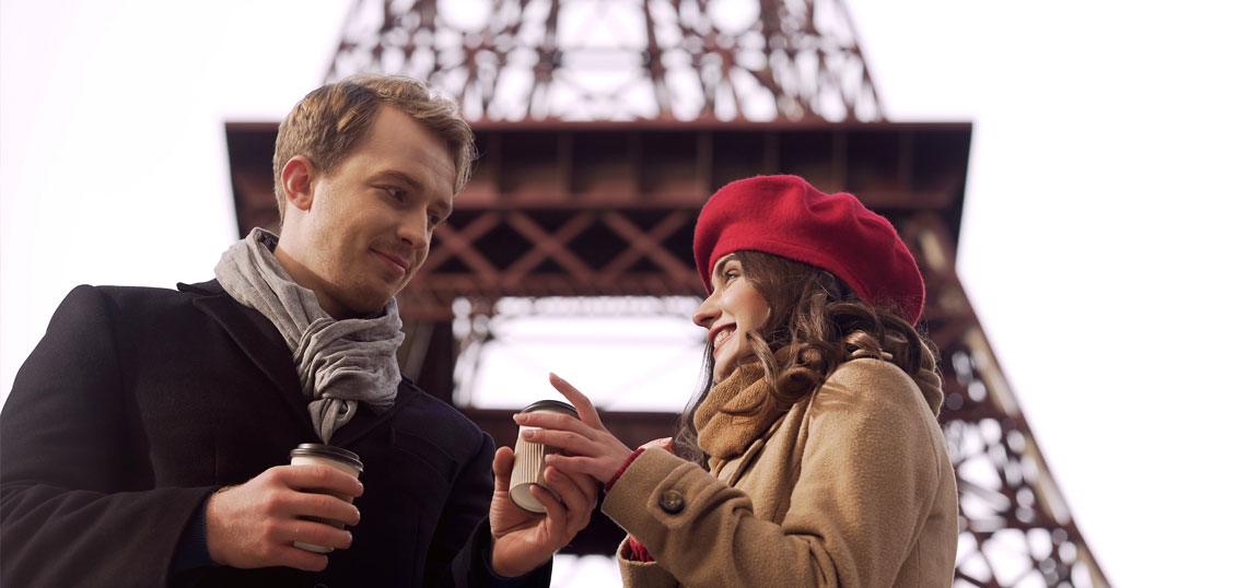 Man and woman in Paris