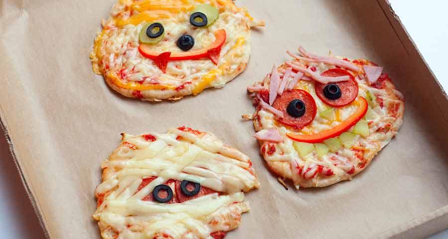 Kids pizza faces