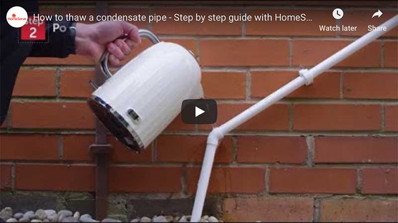 Watch how to thaw a condensate pipe (video)