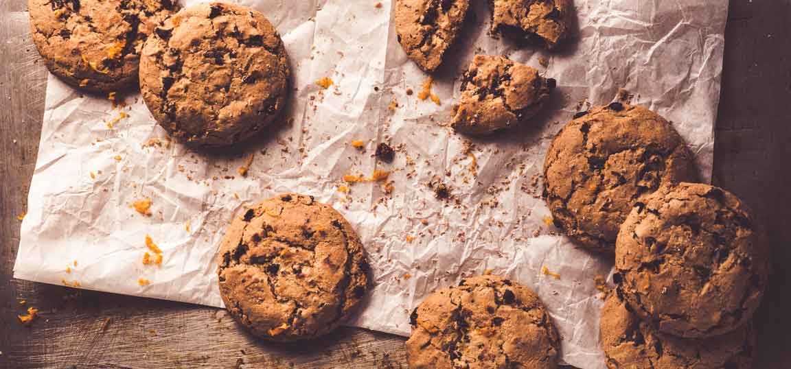vegan cookies on a board